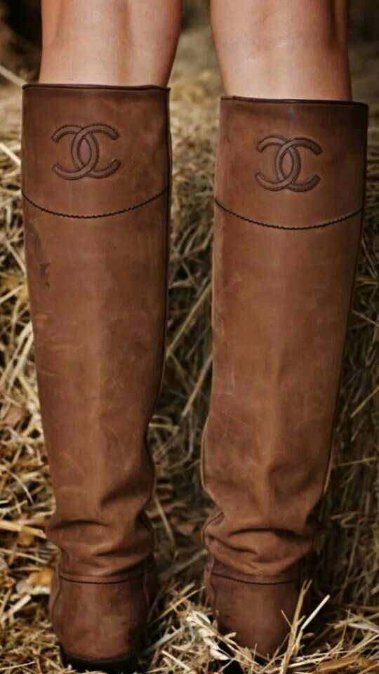 Chanel country boots