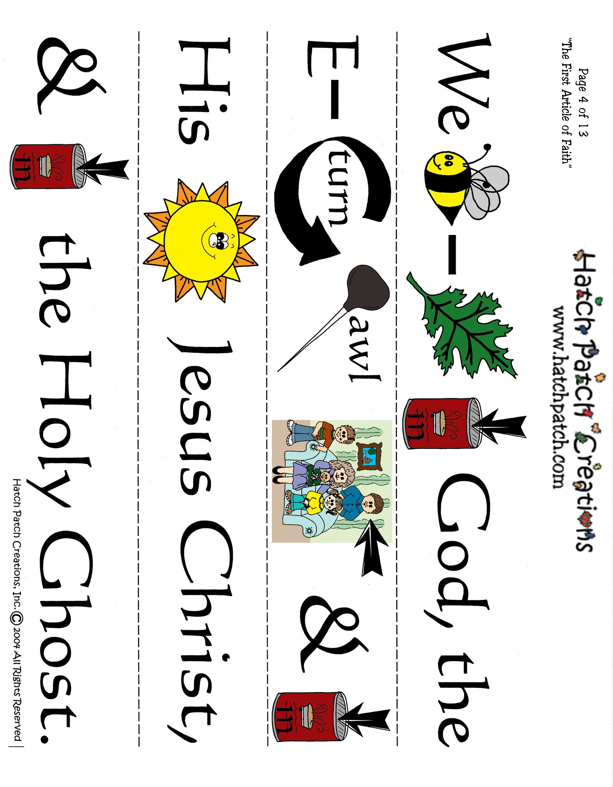 hight resolution of first article of faith wordstrip mormon share this mormon pin is loved at www mormonlink com