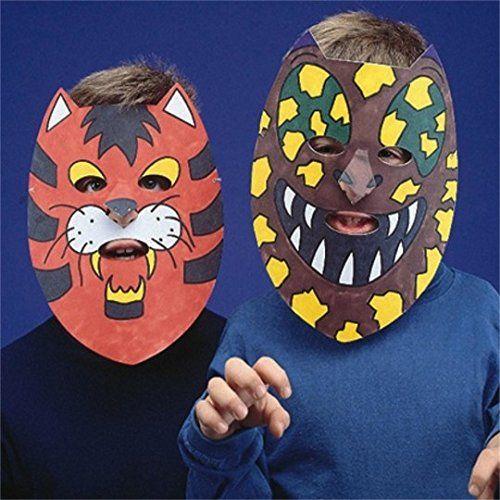 Cardboard Masks To Decorate Animal Masks Craft Kit Pack Of 24 Sswgp980 *** You Can Find More
