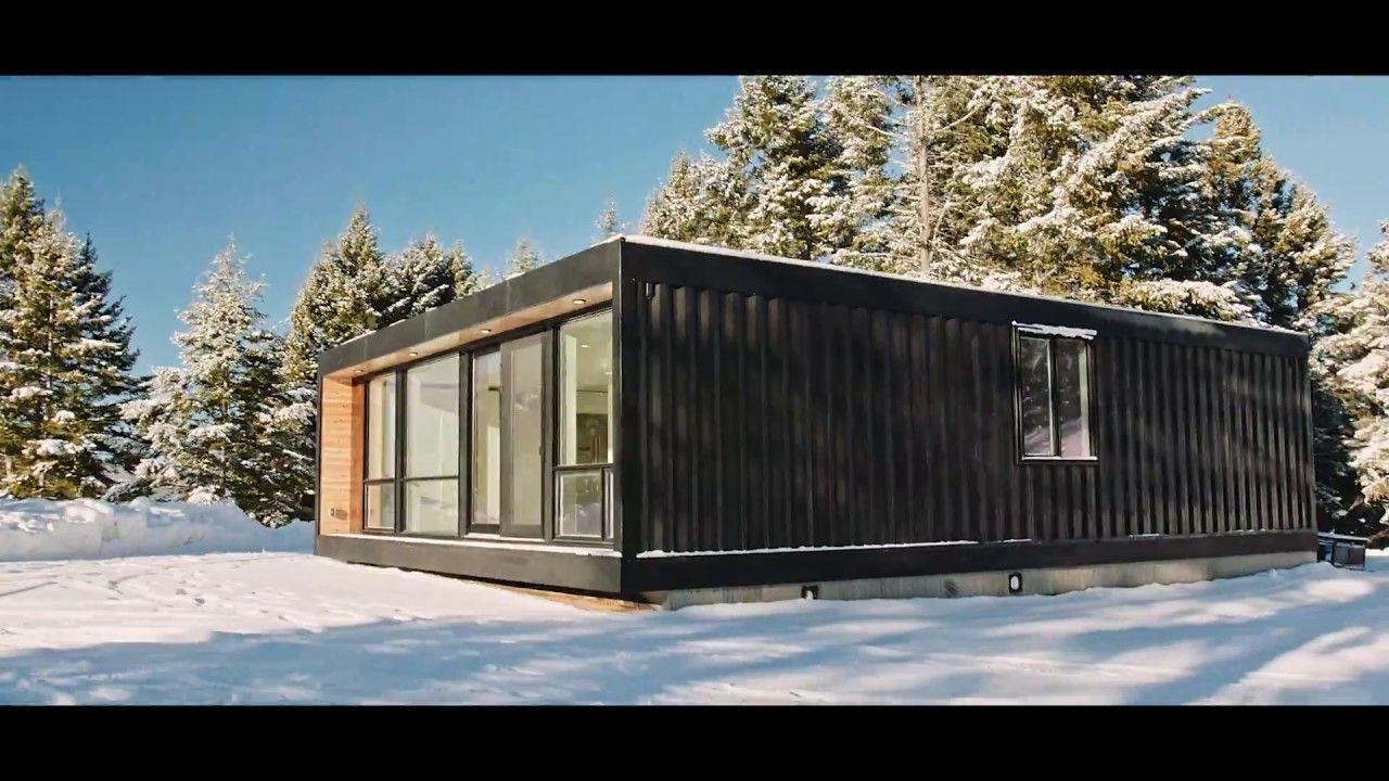 modern shipping container home install. honomobo. thinking outside