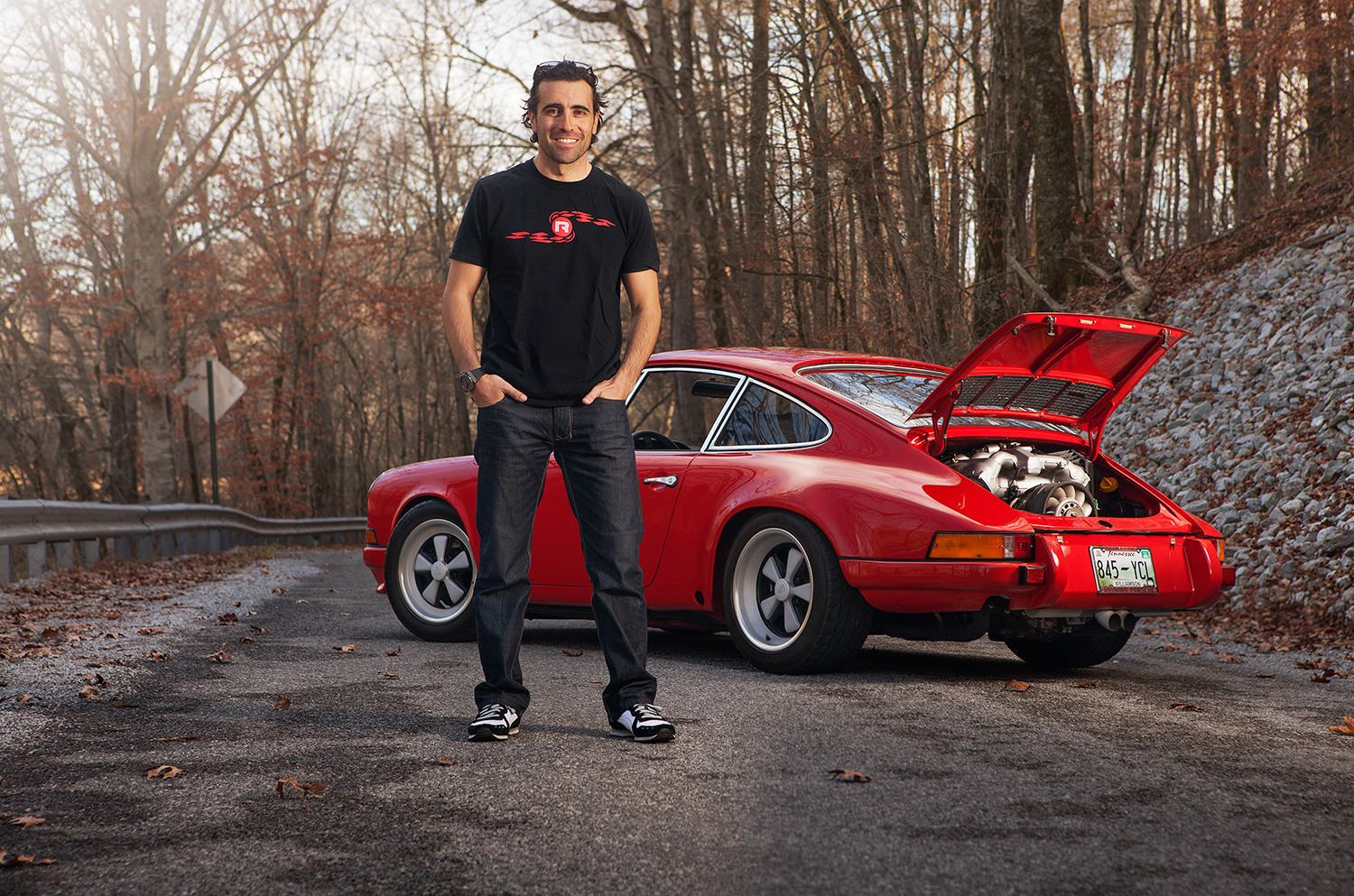 A day with champion racecar driver Dario at his remote countryside residence in Tennessee for a feature in Panorama magazine.