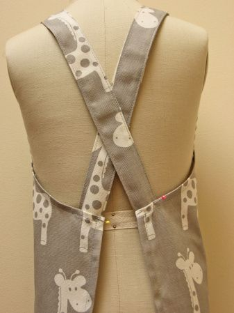 Free Pattern. Easy to make the Cross-Back Apron for adults and ...