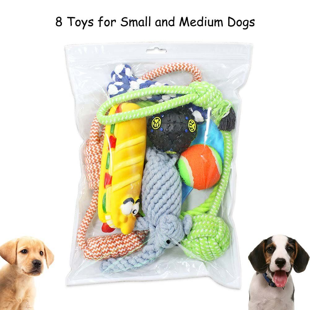 Dog toys images  Puppy Chew Teething Ropes Dog Toys Set  Pack Interactive Chew Toys