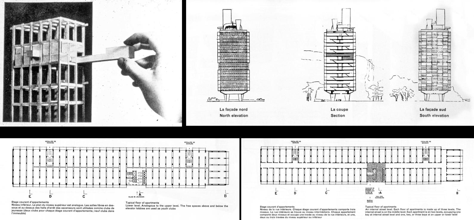 Unit d 39 habitation marseille le corbusier buscar con for Plan habitation