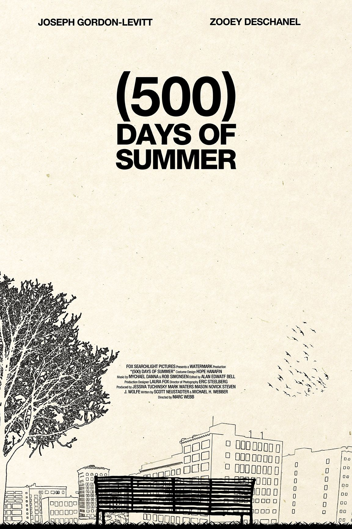 Minimal Movie Posters 500 Days Of Summer By Martin Lucas Cine