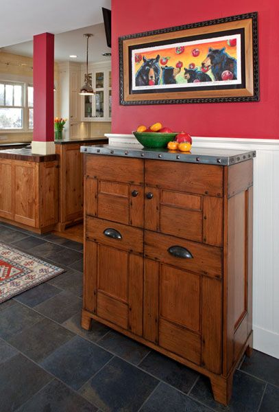 Furniture Piece & Dog Food Storage Alder McPhie Cabinetry