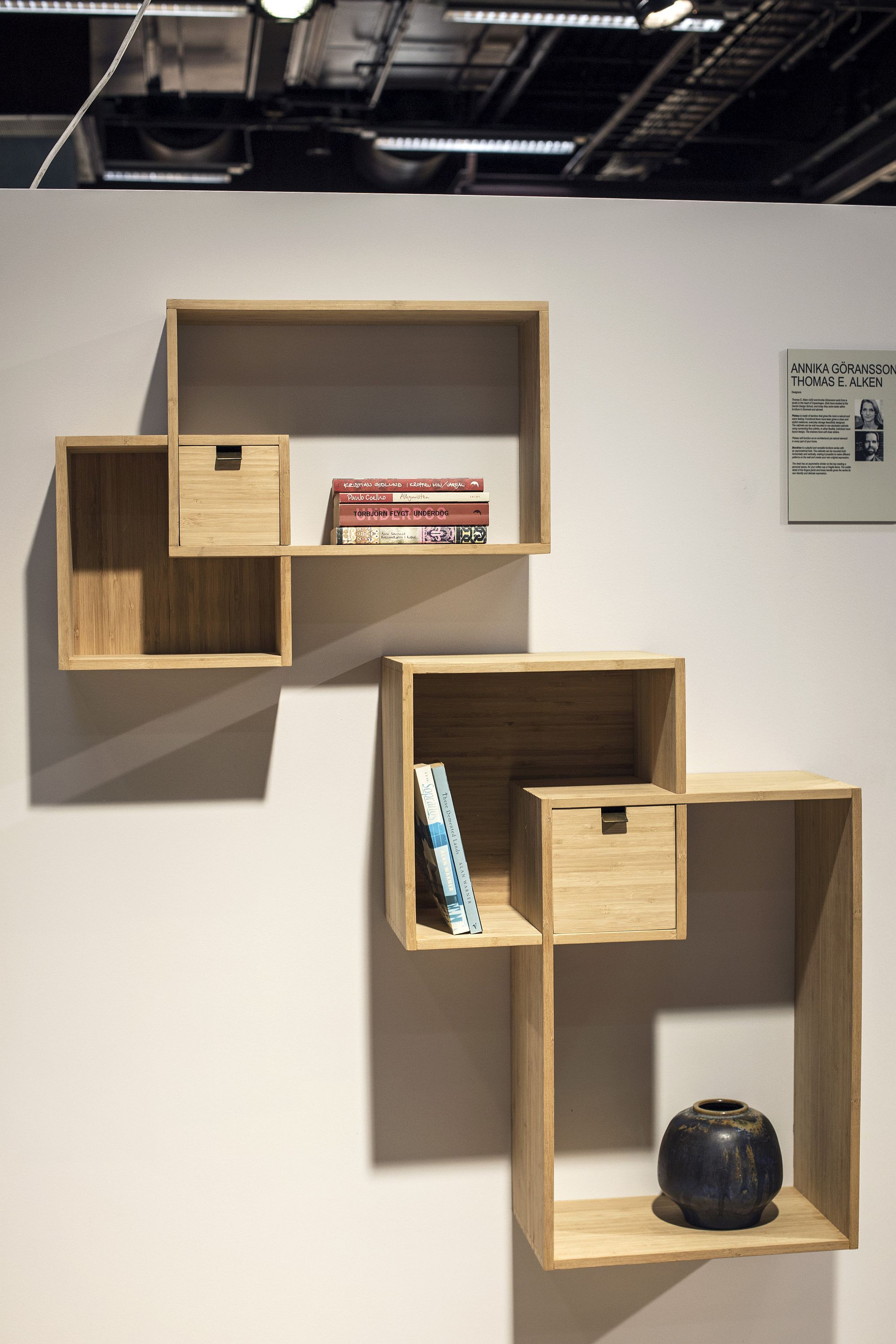 Mondrian Wall Shelf From Cinas 55 Wall Mounted Open Shelves Offering Space Savvy Modularity Shelves Open Shelving Wall Shelves