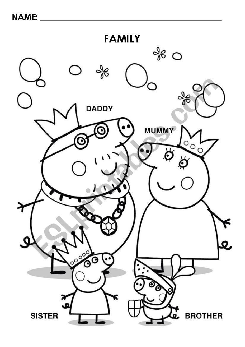 Peppa Pig Family Esl Worksheet By Sabriks In 2021 Pig Family Peppa Pig Family Peppa Pig [ 1169 x 826 Pixel ]