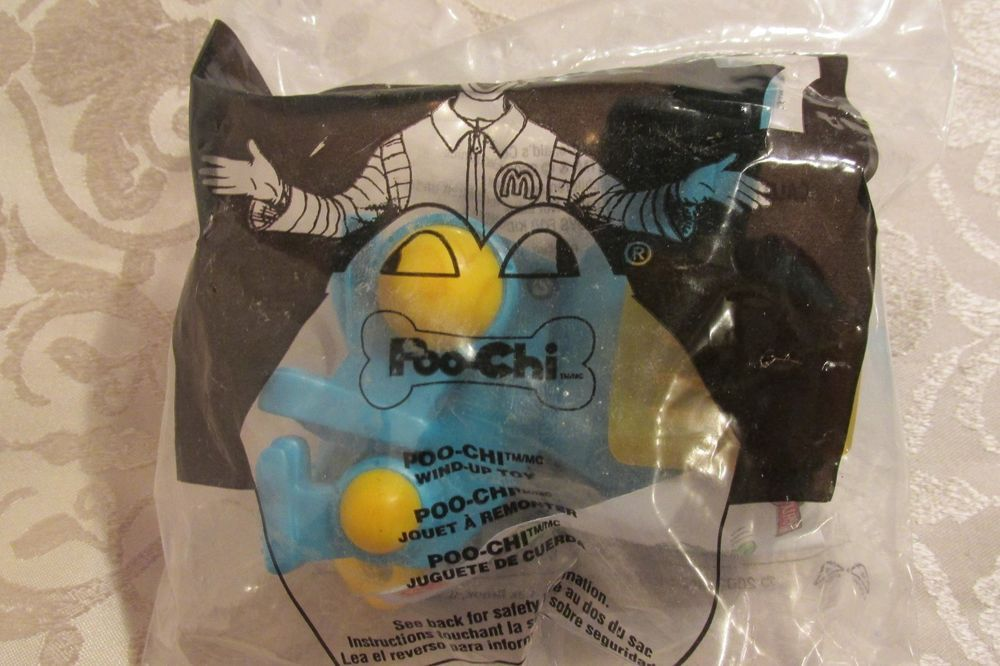 Poo Chi Dog Aquar Blue Toy McDonald's Happy Meal Toy 2002 #7 Sealed #McDonalds