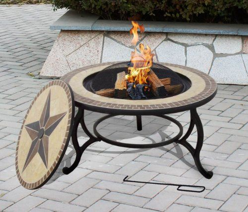 Mosaic Tile Table THE SALTILLO Garden Fire Pit /& BBQ Outdoor Barbeque Firepit