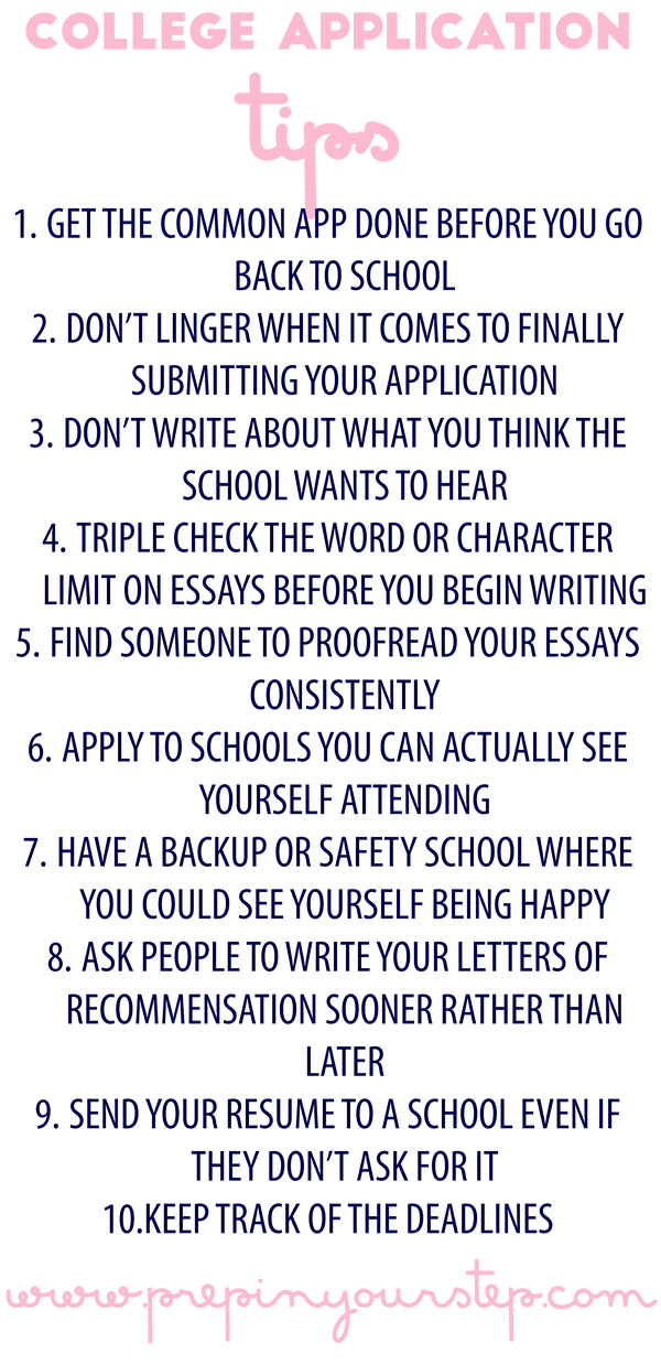 How to write a high school application 18
