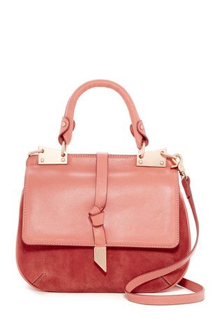 Dion Leather Suede Saddle Bag