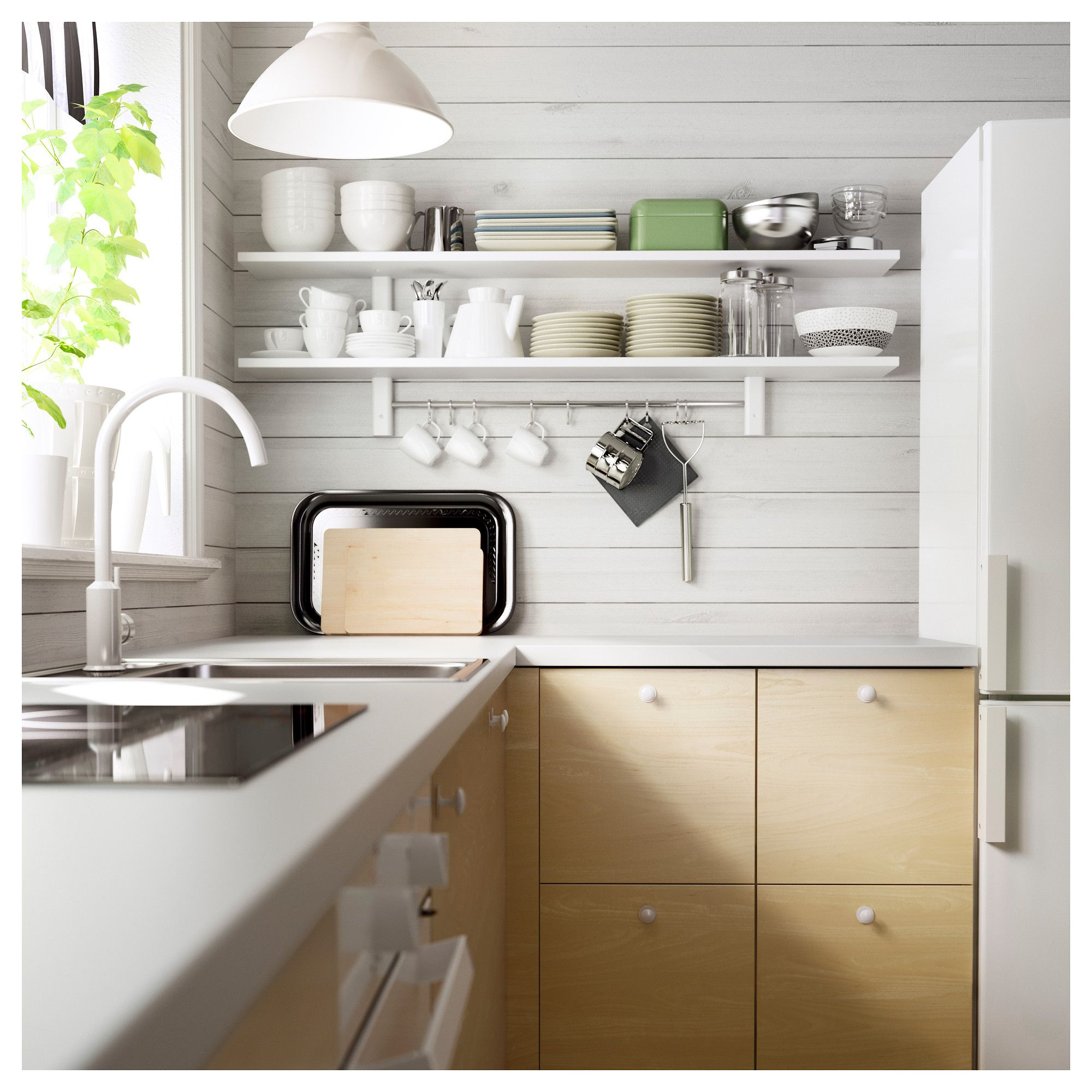 Värde Wandregal Mit 5 Haken Weiß Ikea Kitchen Pinterest