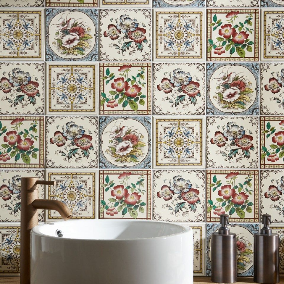 Decorative Tiles Uk Alluring Fancy Florals We've Been Inspiredall Things Country Garden Design Decoration