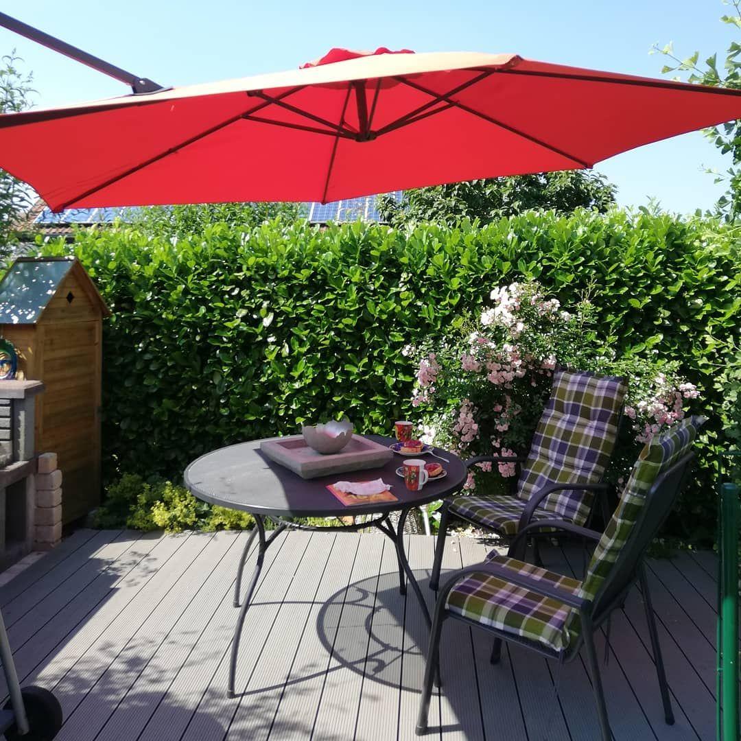 Werbung My Garden Life Juli Challenge Mein Nachmittag Werde Ich Hier Verbringen Auf Unseren Sonnendeck Da Weht Sogar Ein Luf Garten Design Garten Design
