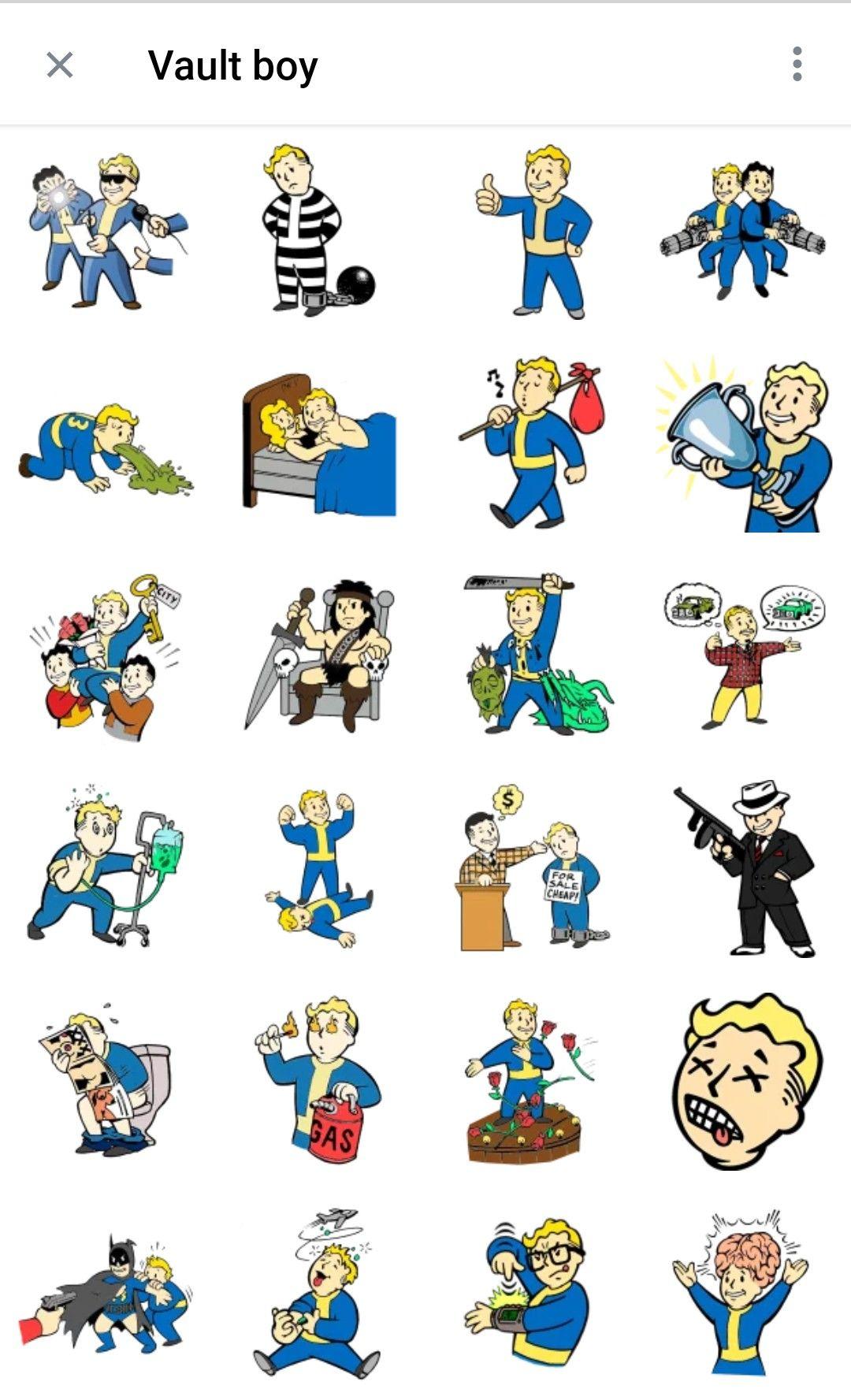 Vault Boy Telegram Sticker Packs Fallout Tattoo Vault Boy Fallout Telegram Stickers