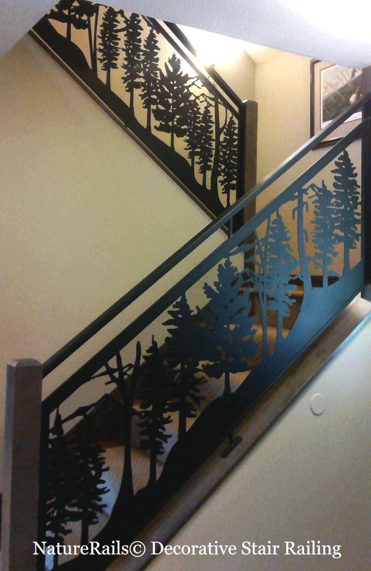 Best Custom Metal Railing Deck Stairs Balcony Rails Wildlife 400 x 300