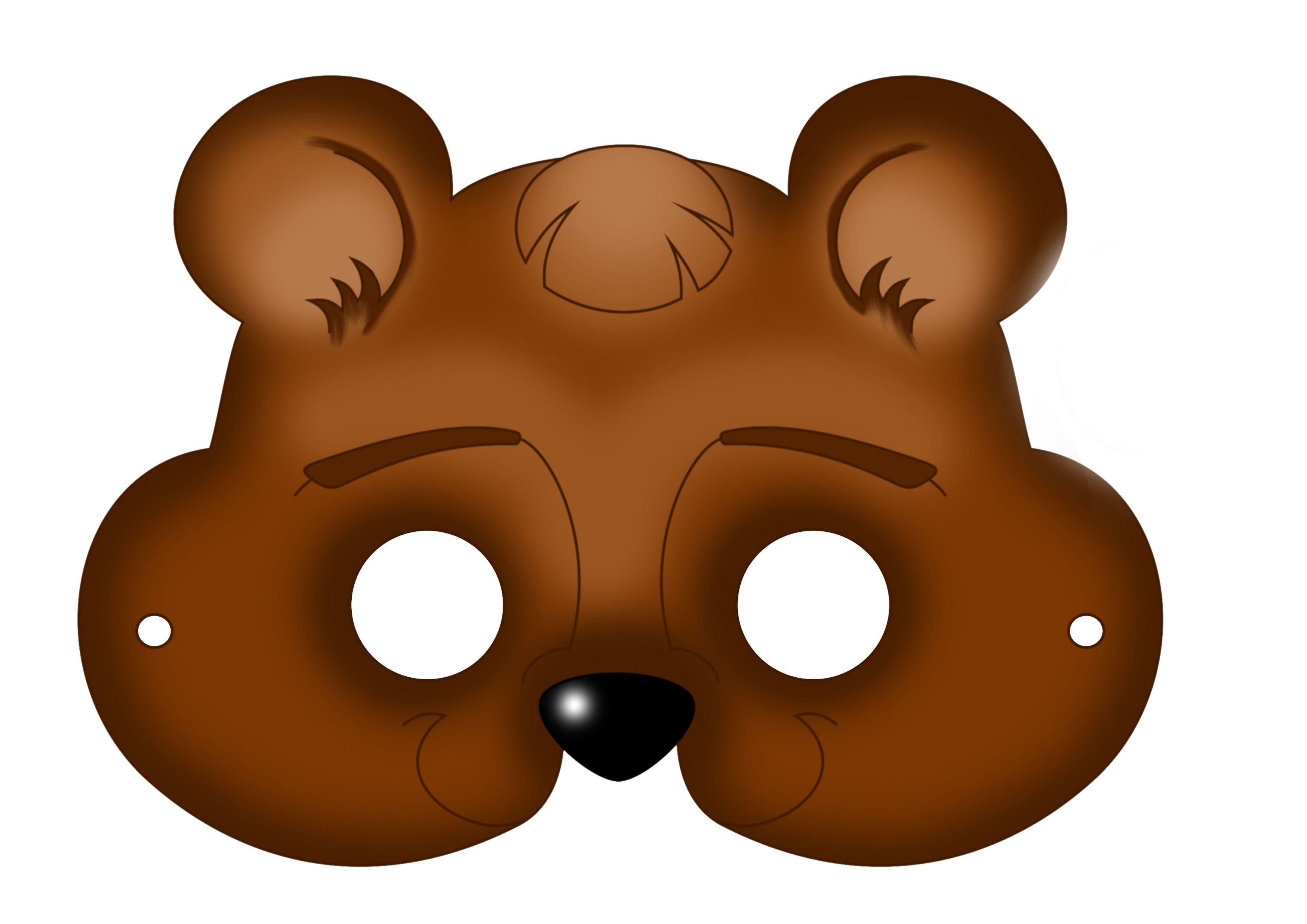 Printout Bear Mask Animal Masks For Kids Carnival Masks Mask For Kids