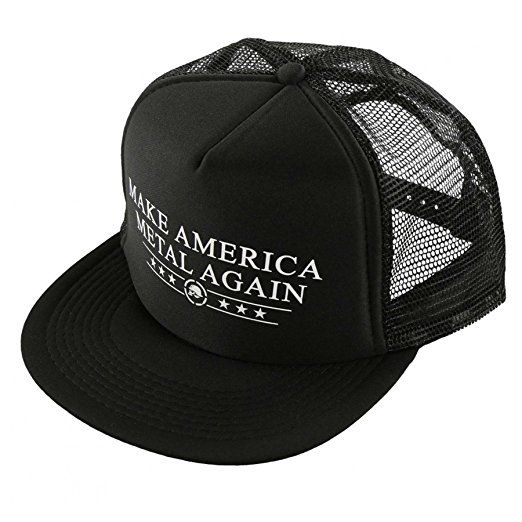 innovative design 8387c c1f1f Amazon.com  Metal Mulisha Make America Metal Again Trucker Hat (BLACK)   Clothing