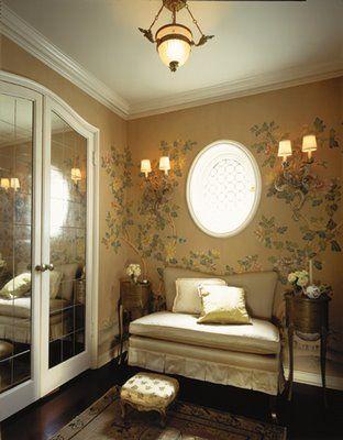 special wallpaper match lighting Barbara barry Pinterest - schlafzimmer amerikanischer stil