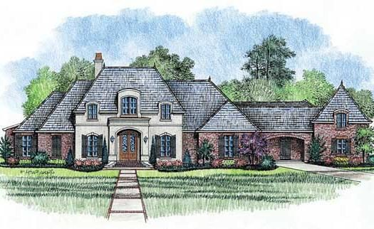 french country style house plans 4000 square foot home 1 story 4 bedroom - 1 Story French Country House Plans
