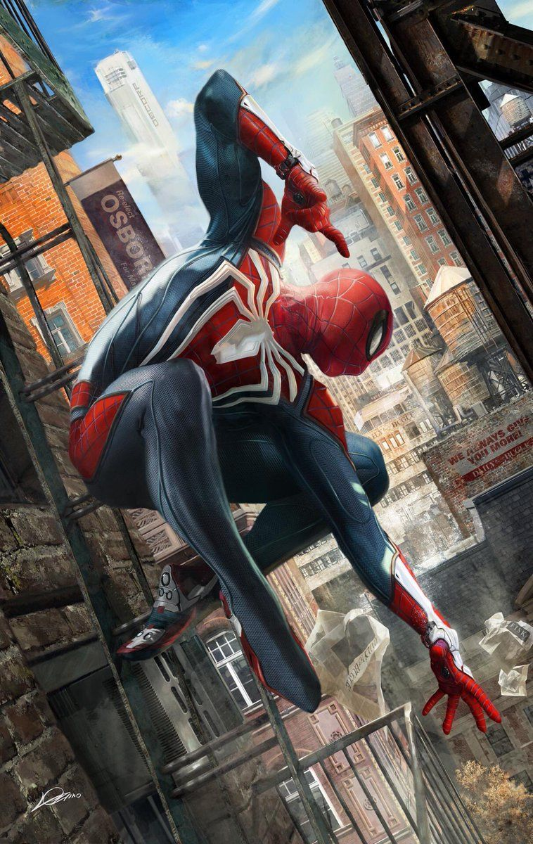 Spider Man Ps4 Art Spiderman Art Spiderman Et Heros Comics