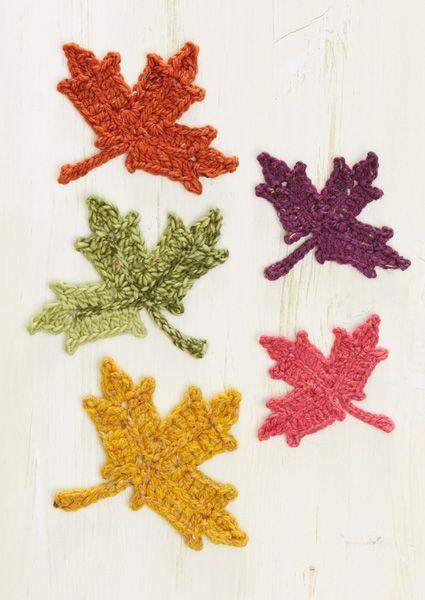 Crochet Leaf Pattern Maple Leaf In Tweed Pinterest Tweed