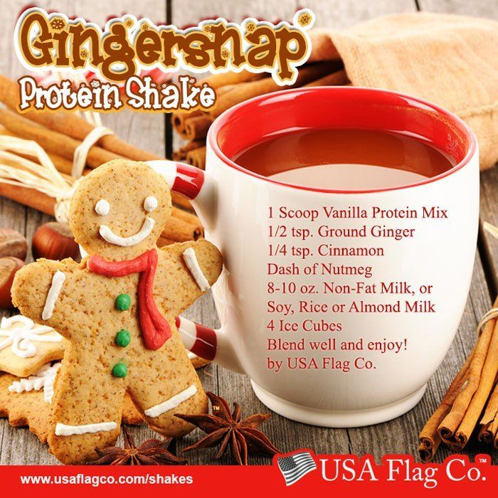 Gingersnap Protein Shake #proteinshakes