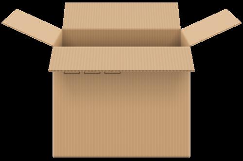 Cardboard Box Open Png Clip Art Clip Art Cardboard Everyday Objects