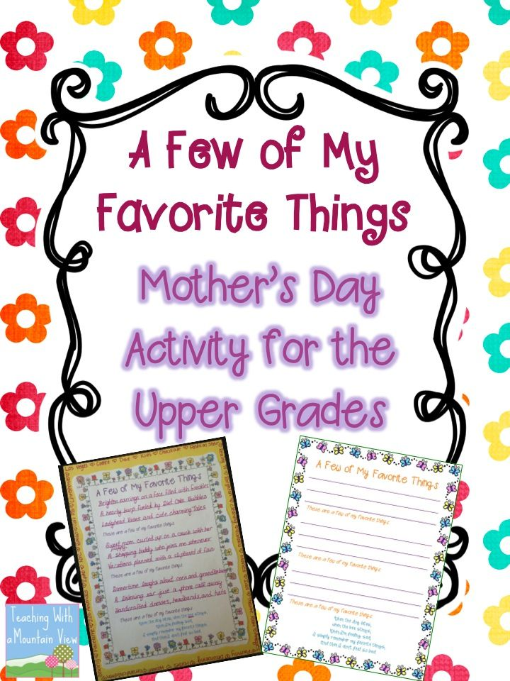 mother 39 s day freebie 5th grade mother 39 s day activities mother 39 s day projects mothers day poems. Black Bedroom Furniture Sets. Home Design Ideas