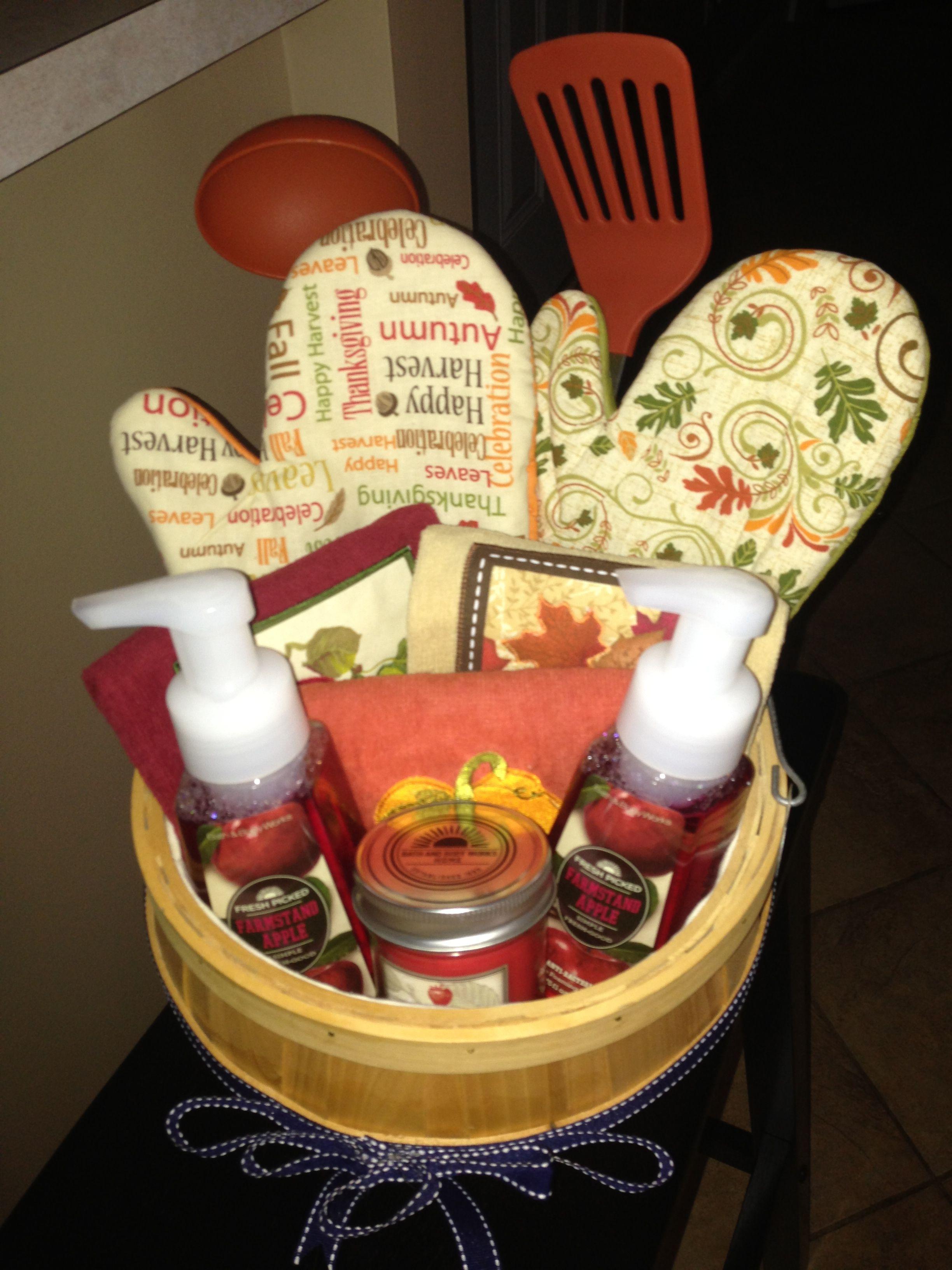 Housewarming gift Thanksgiving gift basket, Fall gift