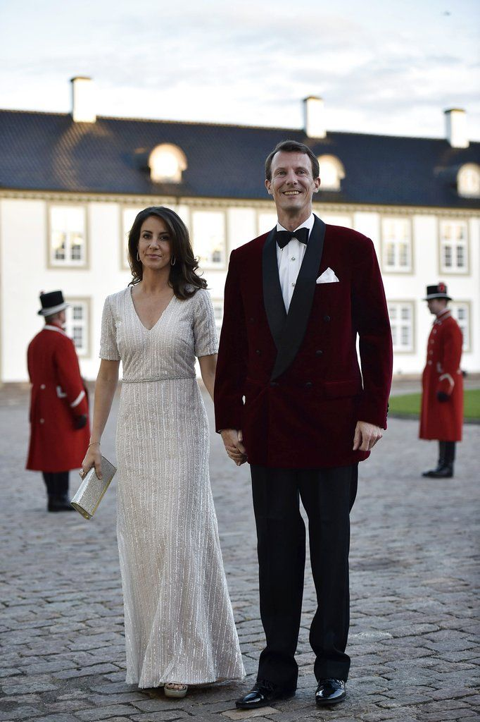 Princess Marie of Denmark Style | Turned Up the Glamour With Silver Beadwork For Queen Margrethe's Birthday Dinner at Fredensborg Castle
