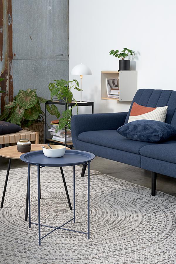 Sofa Bed Harndrup Dark Blue Jysk In 2020 Livingroom Layout Home Living Room Interior