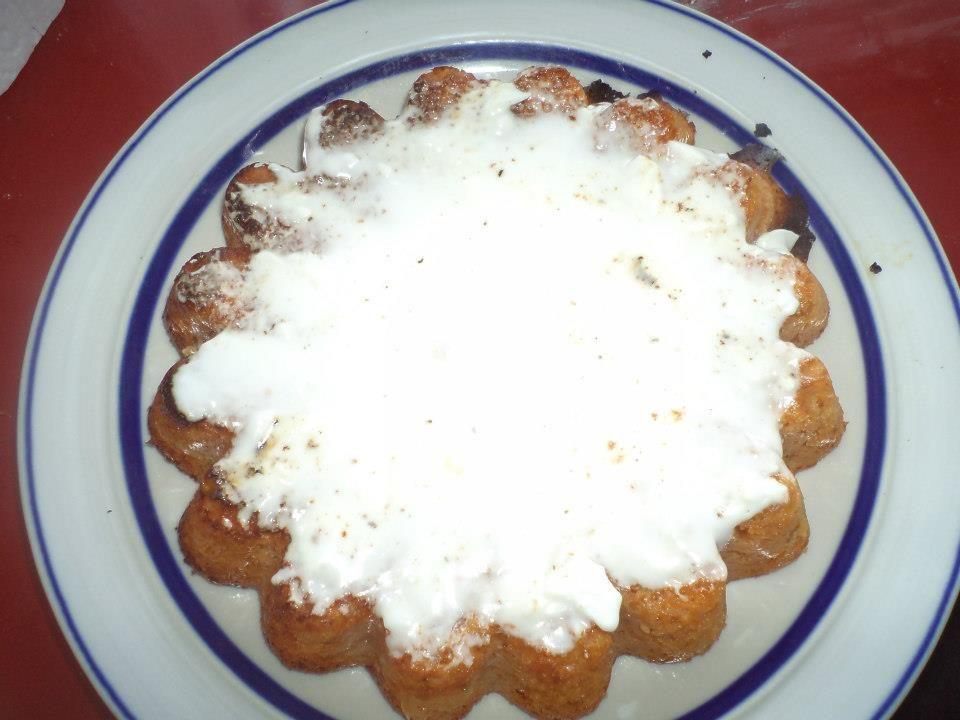 gâteau à la confiture d'abricot/poire en morceaux