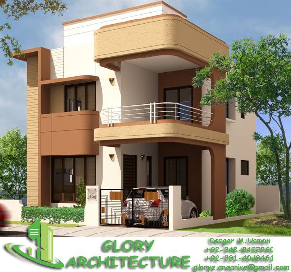 Architect 3d Garden And Exterior 20: Glory Architecture : 25x50 House Elevation, Islamabad
