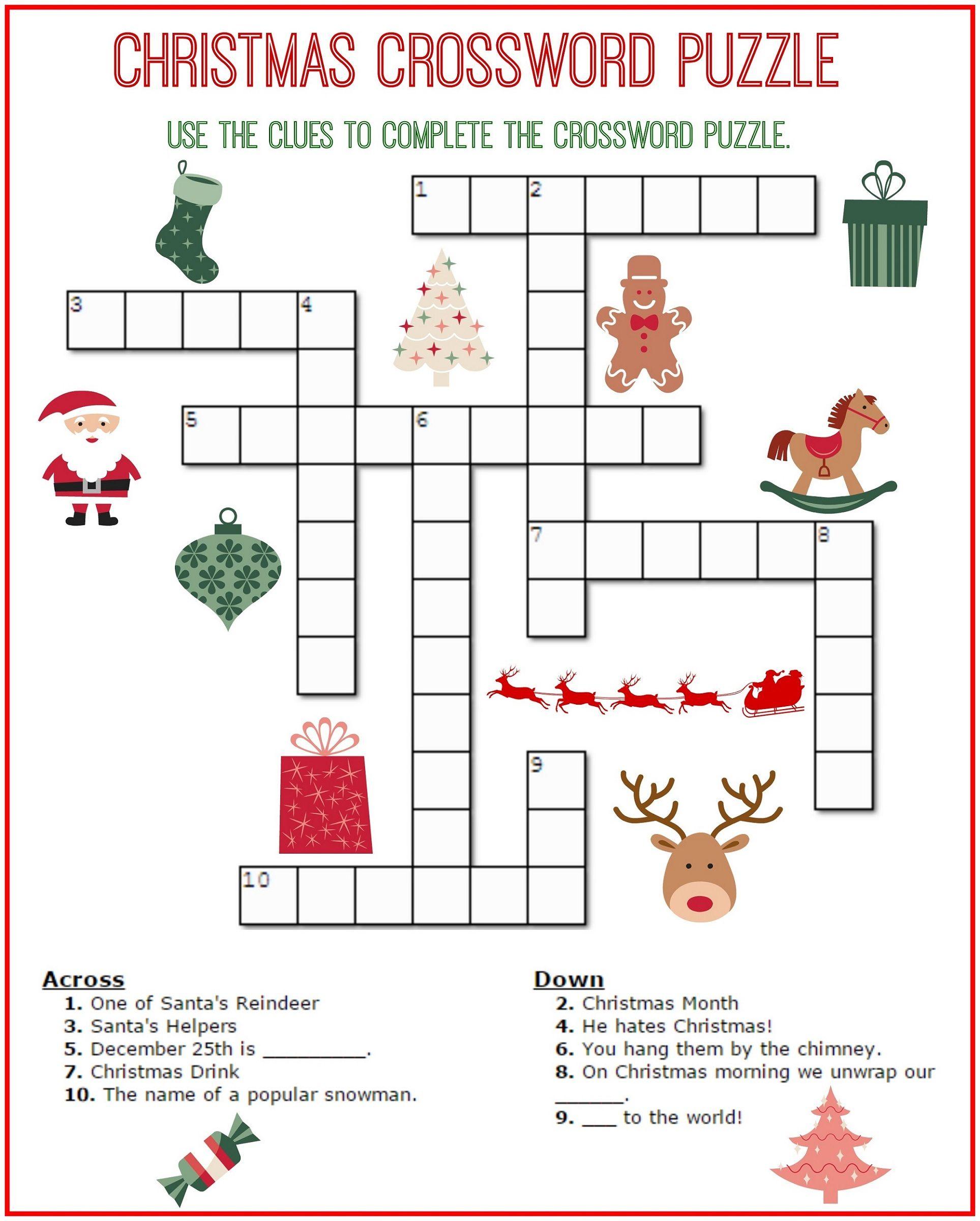 Printable Fun Crosswords For Kids