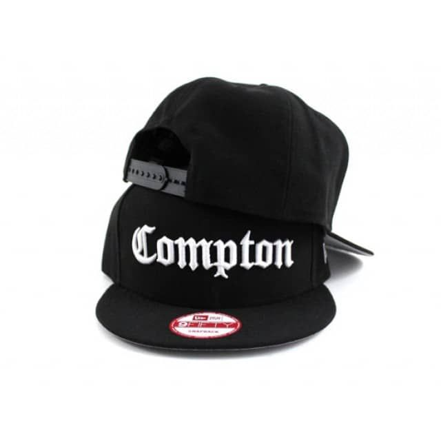 Compton New Era 9fifty Snapback Hat (BLACK GRAY UNDER BRIM) - ECapCity  Gorras aeb289d3b80