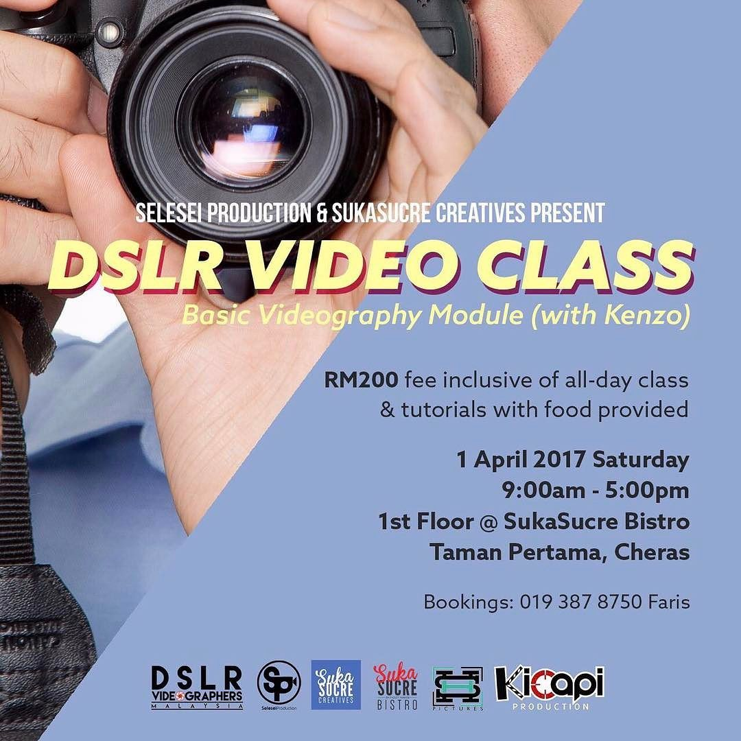Workshop: @seleseiproduction will be hosting a videography class on 01/04 at the upper floor classroom above our family restaurant @sukasucrebistro. - Share with friends who would be interested! #sukasucreevents