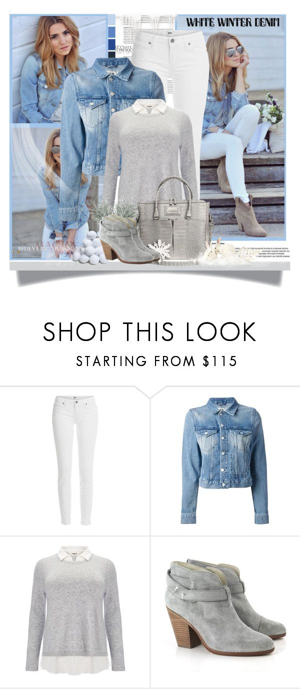 """On Trend: Winter White Denim"" by jenny007-281 ❤ liked on Polyvore featuring Paige Denim, Acne Studios, Studio 8, rag & bone and winterwhite"