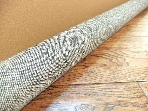 Light Gray Wool Draft Snake Custom Size Draft Stopper Draft Stopper Draft Snake Herringbone Fabric