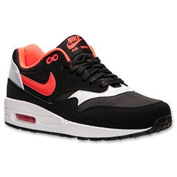 more photos 47df8 7e537 Women s Nike Air Max 1 Essential Running Shoes   FinishLine.com   Black Laser  Crimson White