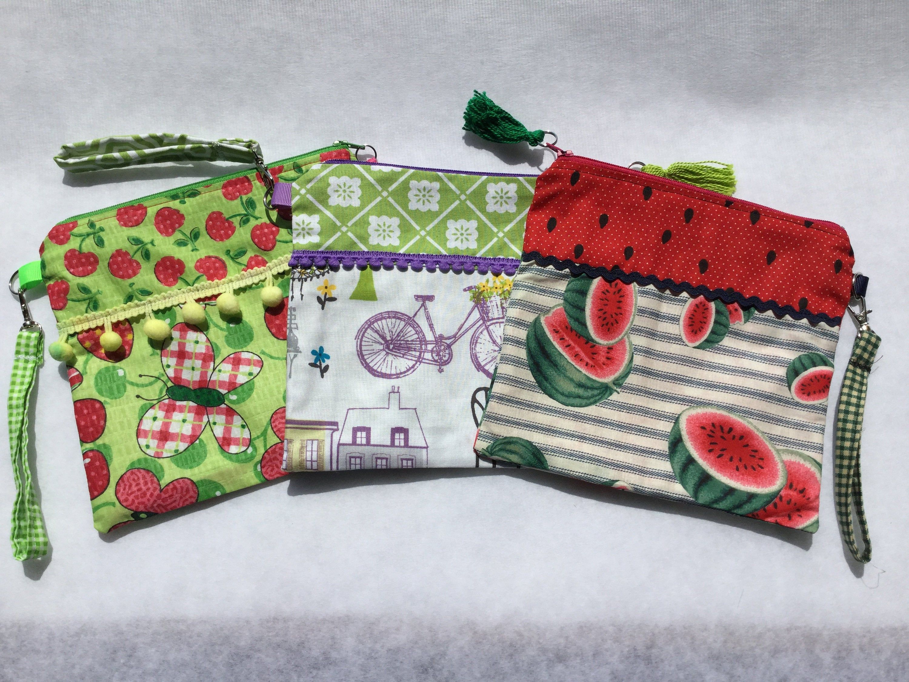 Personalized Zippered Pouch/Cosmetic Bag/Wristlet/Purse