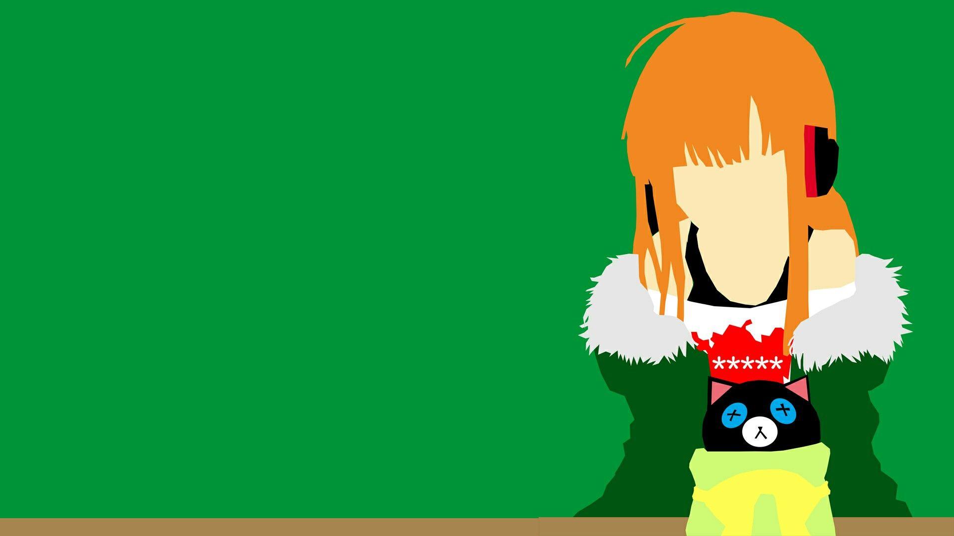 Futaba Sakura From Persona 5 Desktop Wallpaper Vector Artwork Persona 5 Wallpaper