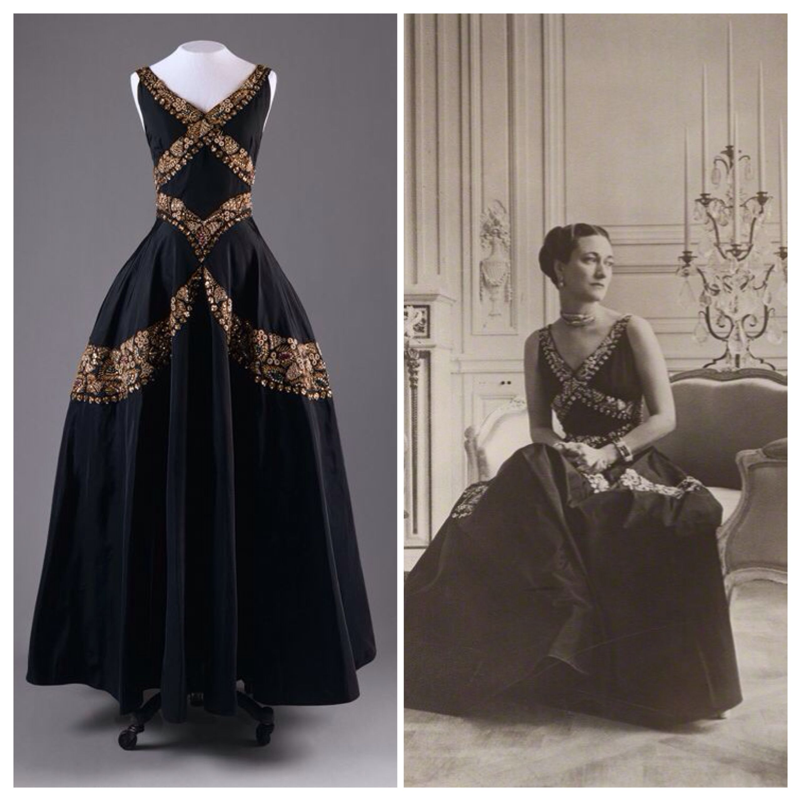 Evening Dress 1938 Designed By Mainbocher Worn By The Duchess Of Windsor Wallis Simpson In British Vogue Designer Evening Dresses Dresses Evening Dresses