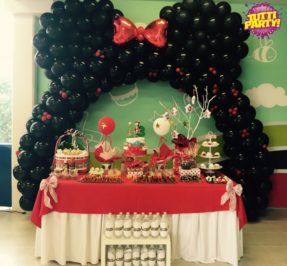 Awesome Disney Christmas Party Ideas Part - 3: Minnie Christmas Party, Minnie Mouse En Navidad, Christmas Party Ideas, Disney  Party Ideas