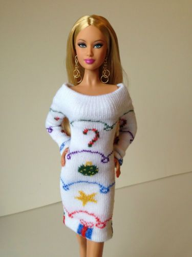 Handmade White Sweaterdress for Barbie Basics, Silkstone, Fashion ...