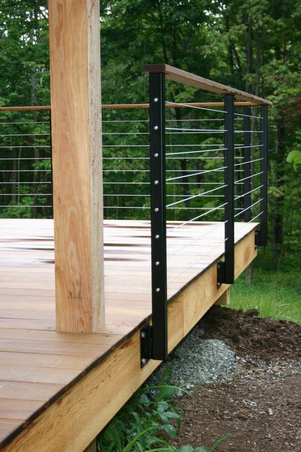 Pin By E Martin On Lake Deck Patio Railing Steel Fence