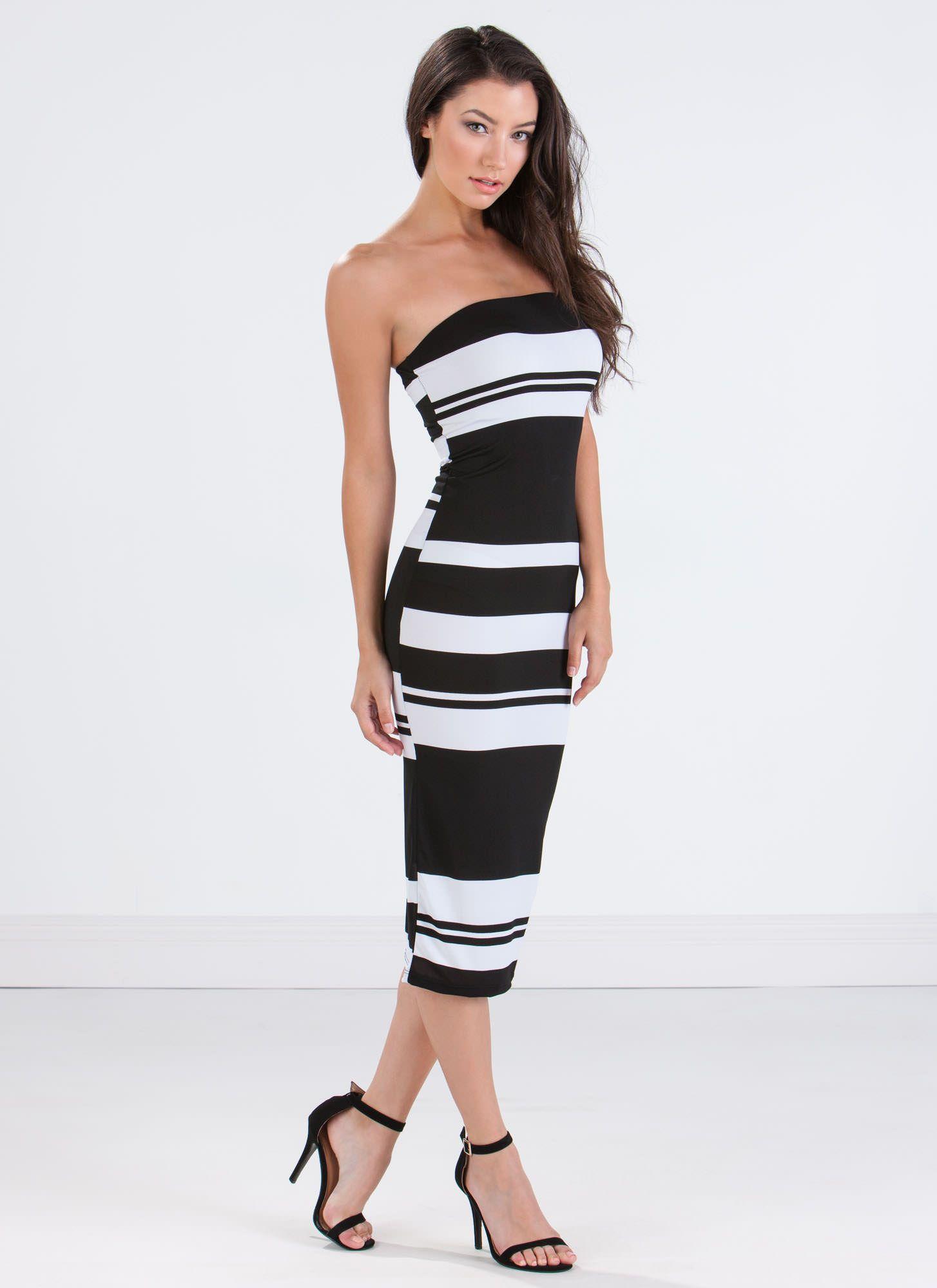 Show Off Your Stripes Bodycon Dress Blackwhite Striped Bodycon Dress Bodycon Dress Dresses [ 2000 x 1454 Pixel ]
