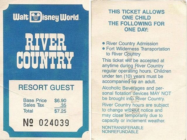 Vintage Disney River Country