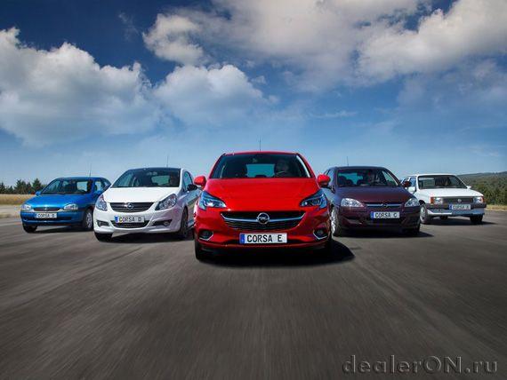 Весь исторический ряд Опель Корса / Opel Corsa